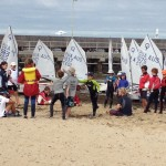2015 Optistates day 2 green fleet games while waiting for wind