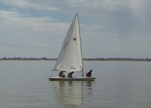 Lake Boga 2015. Jensen & friends sailing a laser